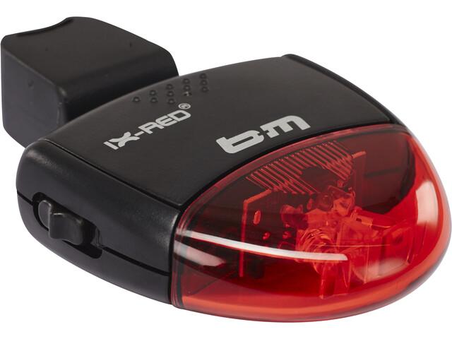 Busch + Müller IX-RED Batterij Achterlicht, black/red